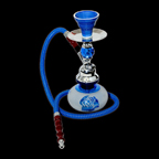 Tobacco Pipe-dancing rose-blue